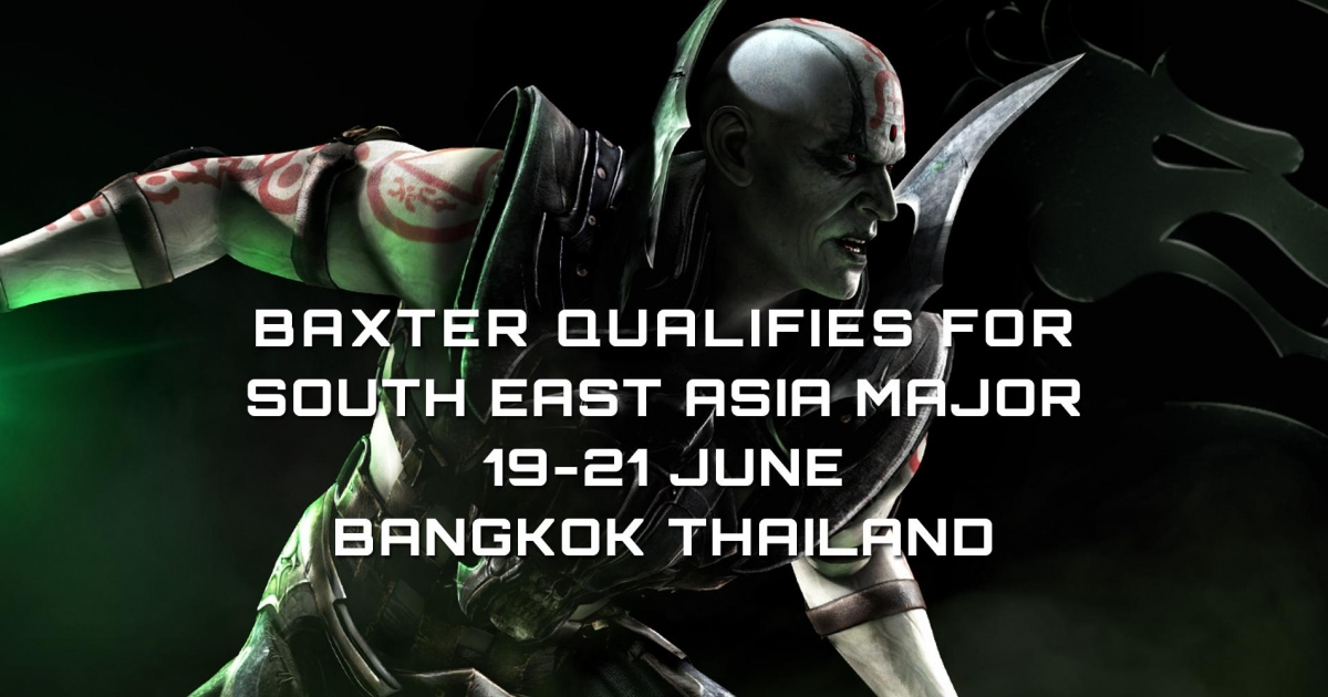 Baxter to South East Asia Major!